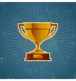 Gold Retro Cup Trophy vector image