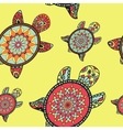 Seamless tortoise pattern in oriental style vector image