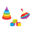 toys - pyramid cubic blocks whirligig toy vector image