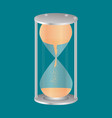 transparent hourglass icon sandglass sandclock vector image