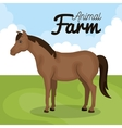 horse animal farm icon vector image