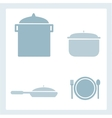 Set of kitchen tools vector image vector image