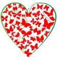 butterflies heart vector image