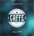 Caffe Bar Label vector image vector image