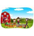 Farmers vector image