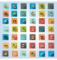 Service Rounded Flat Longshadow Icon Set vector image