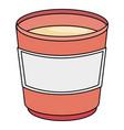 coffee mug isolated icon vector image