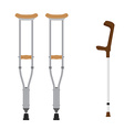 Crutches icon set vector image