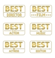 Golden Award set vector image