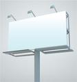 outdoor blank billboard vector image