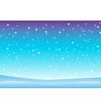 Snowfall and drifts 3 vector image