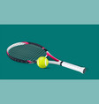 tennis racket with a tennis ball vector image