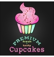 Vintage premium cupcake card poster EPS 10 vector image