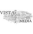 What vista means for tv to pc and pc to tv text vector image