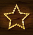 gold star on wooden background vector image