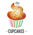 isolated cupcake on white background EPS 10 card vector image