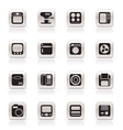 simple home and office equipment icons vector image vector image