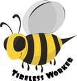 Tireless Worker vector image