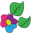 The tri color shamrock flower vector image