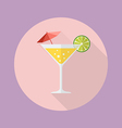 Cocktail drink flat icon vector image