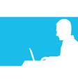Computer Man vector image