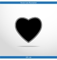 heart web flat icon vector image