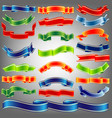 holiday ribbons set vector image