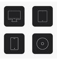 modern gadget icons set vector image