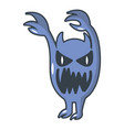 monster icon cartoon style vector image