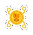 primecoin money golden digital vector image
