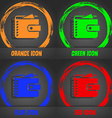 Purse icon Fashionable modern style In the orange vector image