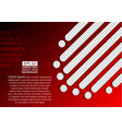 red abstract background and transparent lines vector image