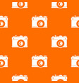 retro camera pattern seamless vector image