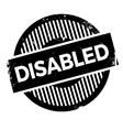Disabled stamp rubber grunge vector image