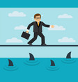 businessman risks and fears vector image