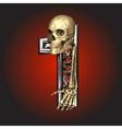 Metal figure with skeleton vector image