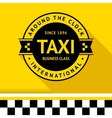 Taxi badge 13 vector image vector image