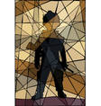 Child soldier mosaic vector image vector image