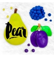 Plasticine fruits pear vector image