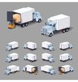 White truck refrigerator vector image