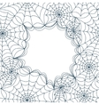 Card template with spiders web seamless vector image