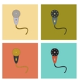 assembly flat icons Kids toy microphone vector image