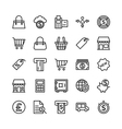 Banking and Finance Outline Icons 4 vector image
