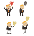 Businessman with idea vector image
