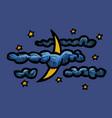 cartoon image of night icon nighttime symbol vector image