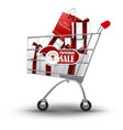 christmas shopping and gifts vector image