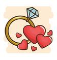 diamond engagement ring vector image