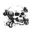 Human skull and cross bones vector image