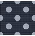 seamless polka dots textured pattern vector image