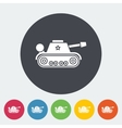 Tank toy flat icon vector image